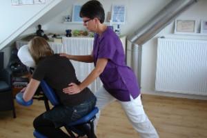 stoelmassage bij Praktijk Anita van der Gulik